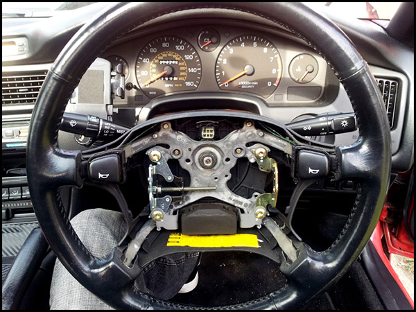 Remove Original MR2 Steering Wheel