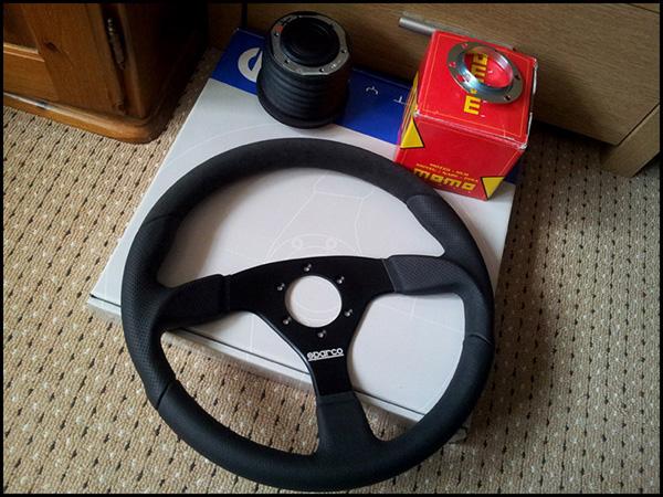 New MR2 Sparco Lap5 Steering Wheel