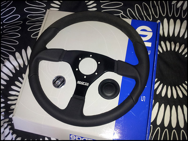 New MR2 Sparco Lap5 Steering Wheel